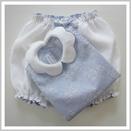 Bloomer et blouse Libety Capel col pétale blanc