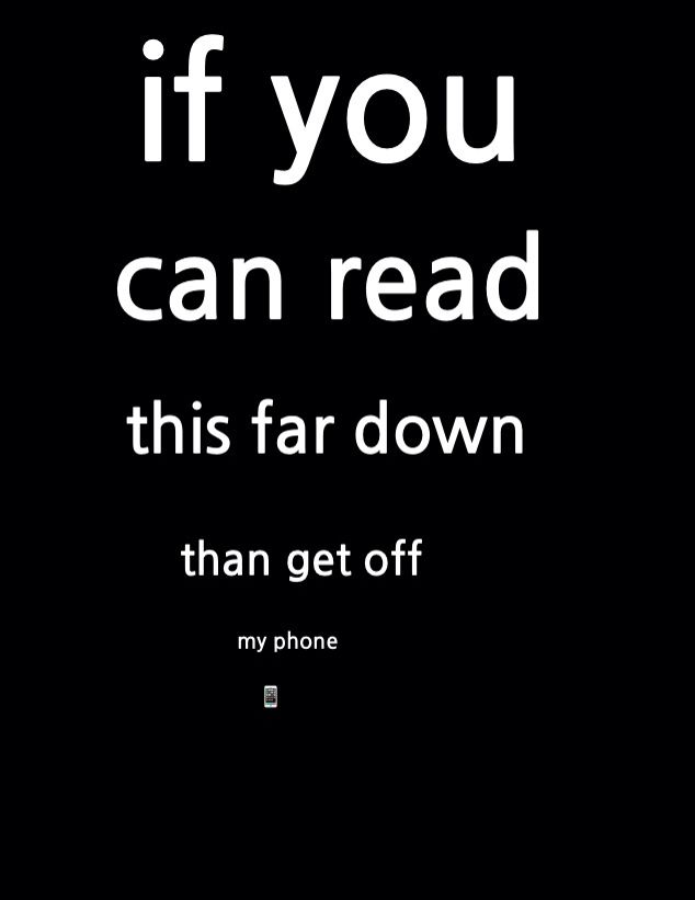 If you can read this far down #2