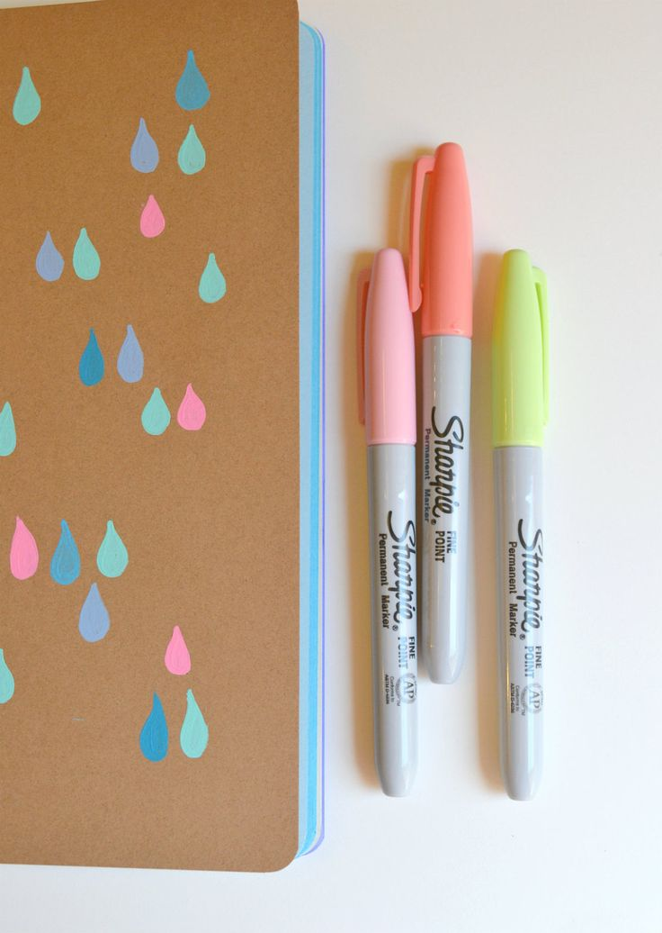 Raindrops Journal - 16 Page Notebook, Diary, Neon, Colorful, Fluo - Color Page Journal,  Water, Pattern, Fluorescent, Design, Drips, Shapes. $15.00, via Etsy.