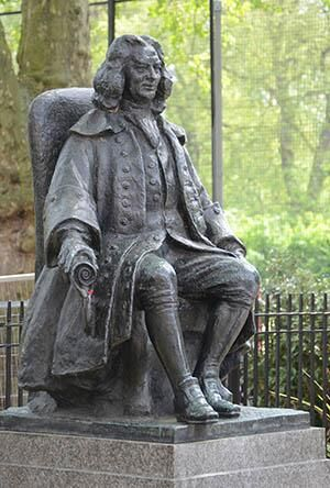 Brunswick Square, London . The Statue of Captain Thomas Coram (c. 1668 – 29 March 1751) was a philanthropist who created the London Foundling Hospital to look after unwanted children in Lamb's Conduit Fields, Bloomsbury. It is said to be the world's first incorporated charity.