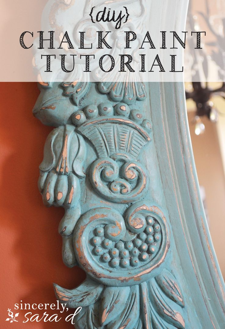 Tutorial for distressing/aging furniture (and mirrors) using chalk paint - includes pictures!