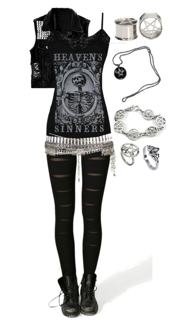 Untitled #1134 by bvb3666 on Polyvore featuring Bloody Mary Metal, AllSaints and Forever 21