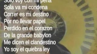 Manu Chao - Clandestino (Lyrics) - YouTube