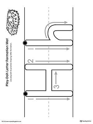 letter formation play doh mat letter h printable homebound pre k letter h activities for. Black Bedroom Furniture Sets. Home Design Ideas