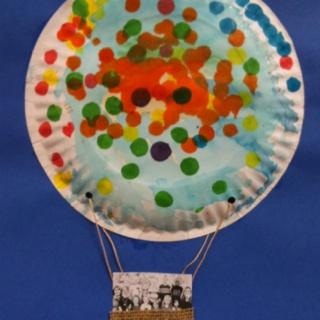 Cute hot air balloon