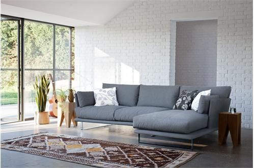 Modern Grey Corner Sofa Bed L shaped