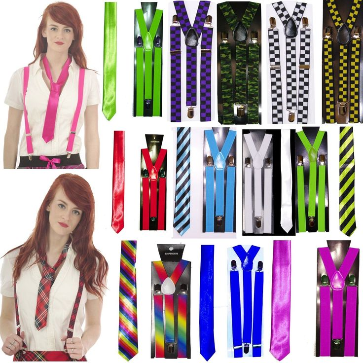 Neon checks #camouflage tartan rainbow braces /tie 80.s fancy #dress #party tutu,  View more on the LINK: http://www.zeppy.io/product/gb/2/282267655232/