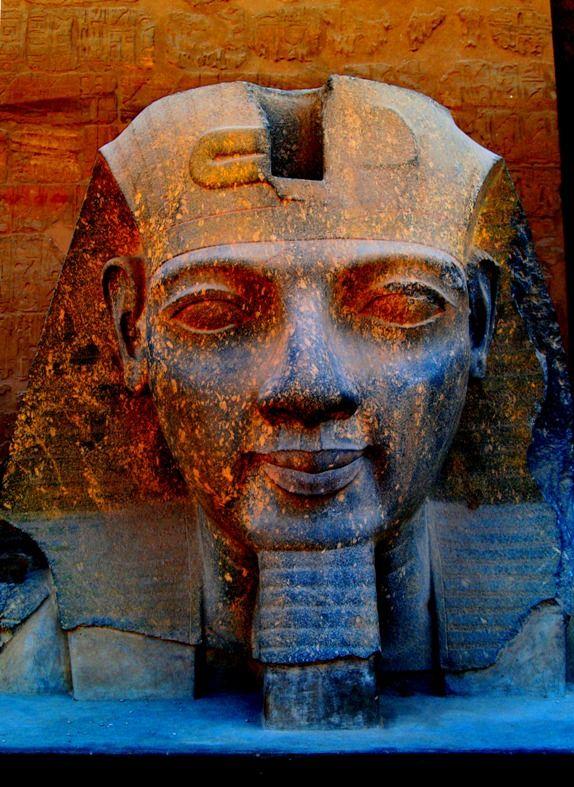 Ramses II's head, Temple of Luxor, Egypt.