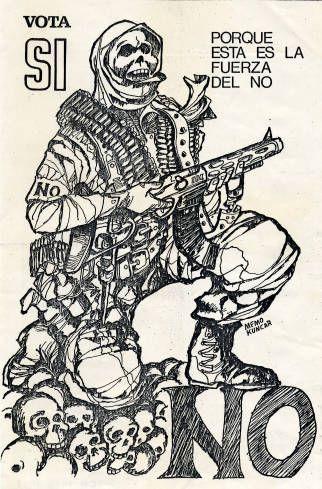Esta es la fuerza del NO. Campaña del SI, plebiscito de 1988 (Fuente: http://econtent.unm.edu/cdm/singleitem/collection/LAPolPoster/id/3846/rec/367)