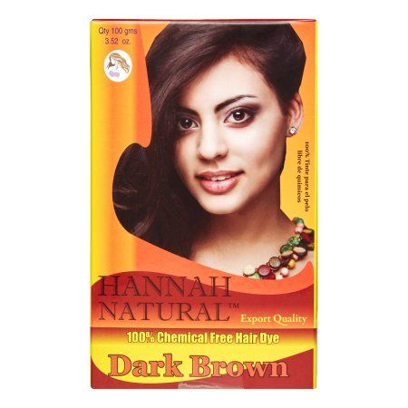 Hannah Natural 100% Chemical Free Hair Dye, Dark Brown, 100 g