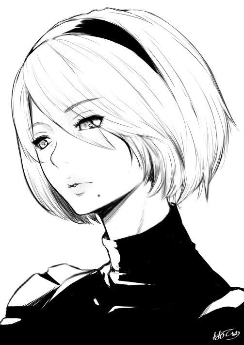 Female space explorer character inspiration. 2B by nanahime : nier