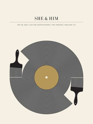 She and Him poster by the Small Stakes. Love the poster (sold out) love the band