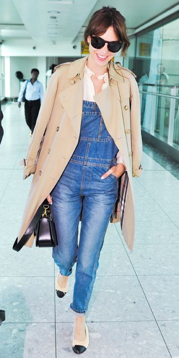 Jet-Set in Style: 39 Celebrity-Inspired Outfits to Wear on a Plane - Alexa Chung from #InStyle