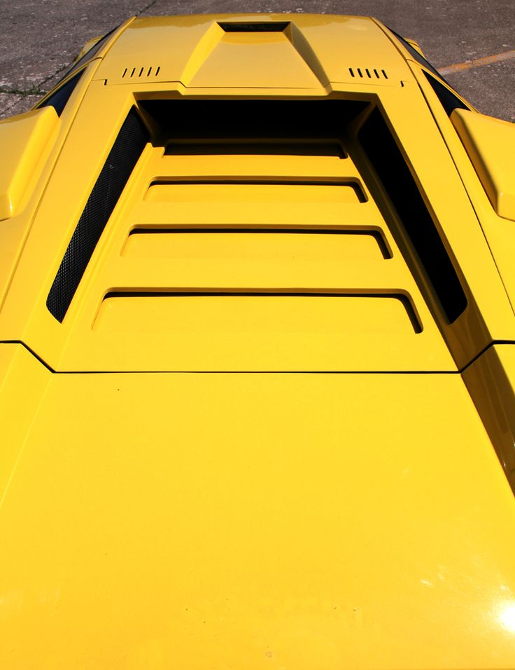 Yellow Lamborghini Countach