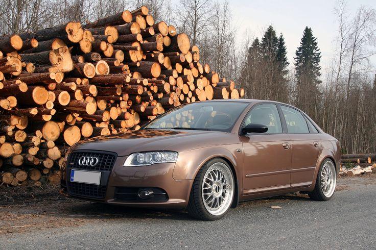 Metallic brown wrapped Audi A4 B7 by http://shop.eteippi.fi/ #BBS wheels