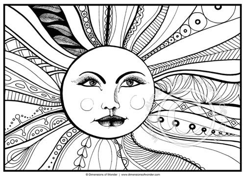 Abstract Halloween Coloring Pages : Best icolor quot the moon stars images on pinterest