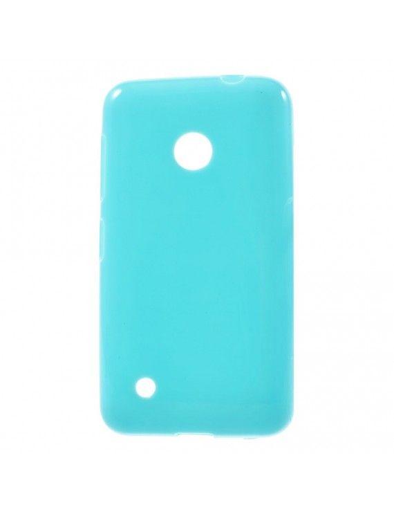 Γυαλιστερή Θήκη Σιλικόνης TPU για Nokia Lumia 530 RM-1017 RM-1019 - Μπλε