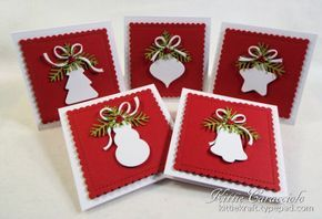 Christmas Shaped Tag Cards by kittie747 - Cards and Paper Crafts at Splitcoaststampers