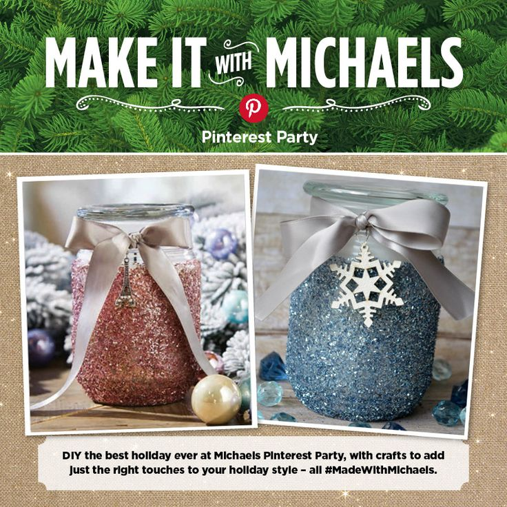 Easy Glitter Candle Gift idea