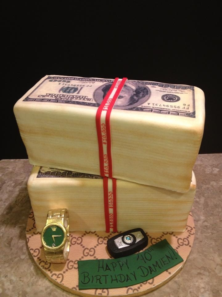 Stacks of money cake birthday cakes pinterest traditional growing up and rolex - Money cake decorations ...