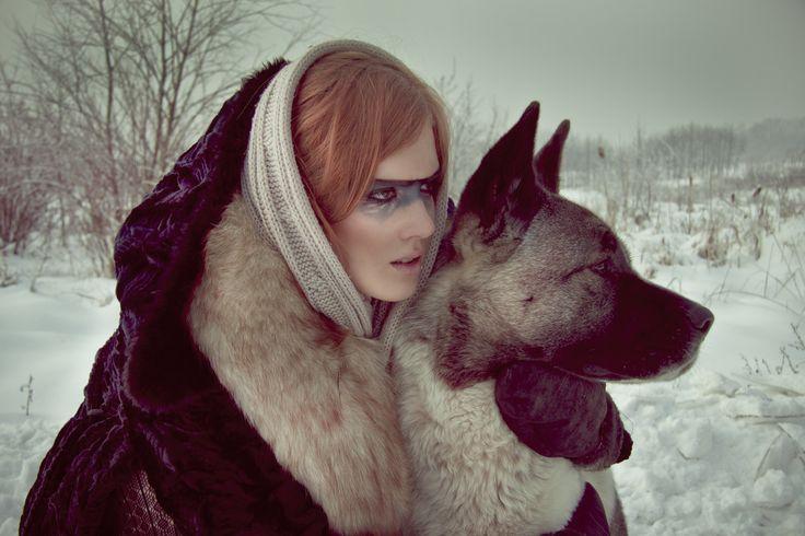 sesja zimowa, zdjęcie  - www.katarzynawrona.pl