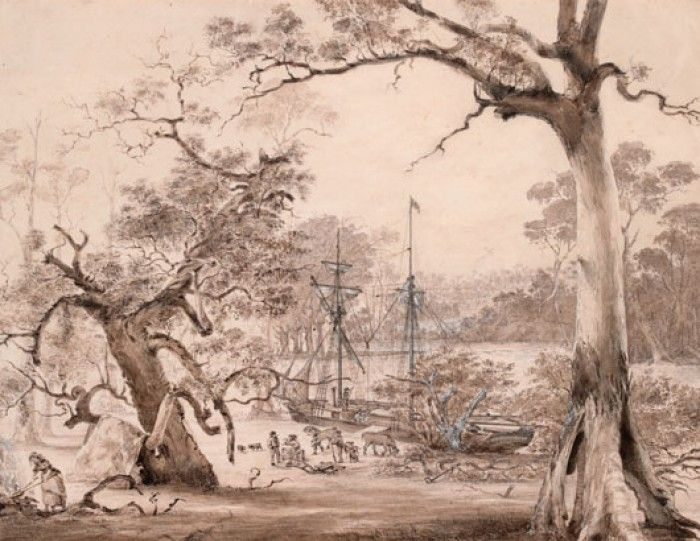 Founding of Melbourne: landing from the Yarra Basin August 29th 1835