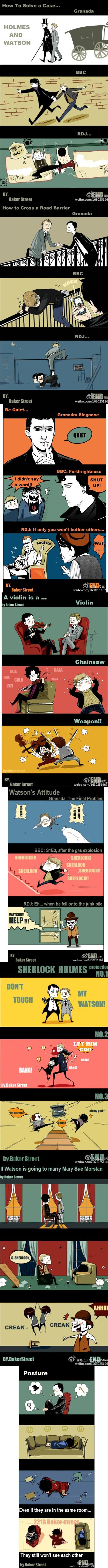 Granada vs BBC vs RDJ -- The Holmes and the Watsons (are all far too adorable) << I DON'T KNOW WHO TO LOVE!!