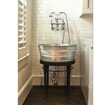 Laundry Wash Tub : Laundry tub! Laundry Room Pinterest Buckets, Wash tubs and ...