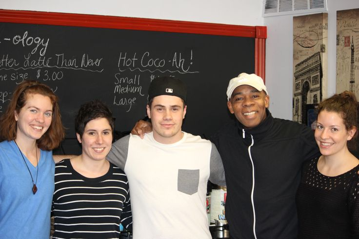 Some of the Staff and some regulars at La Boulangerie du Village in Sudbury's Downtown.