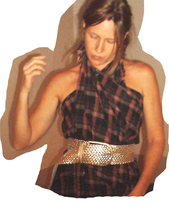 Fall-Winter Tartan halter neck top crosswrap di musaparadisiaca, €38,00