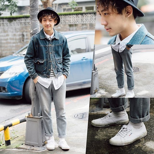 GoodHow - Superga Shoes, 5th Street Jacket, Uniqlo Tee - Here Comes Your Man