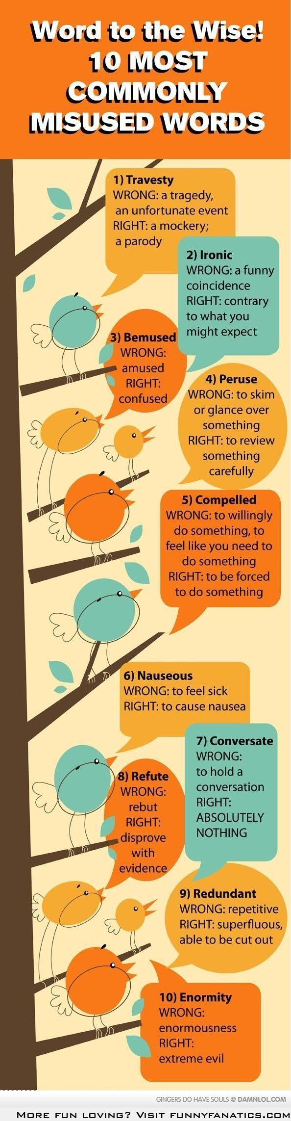 10 Most Commonly Misused Words Ironicly, I've been using the word 'irony' wrong my whole life.
