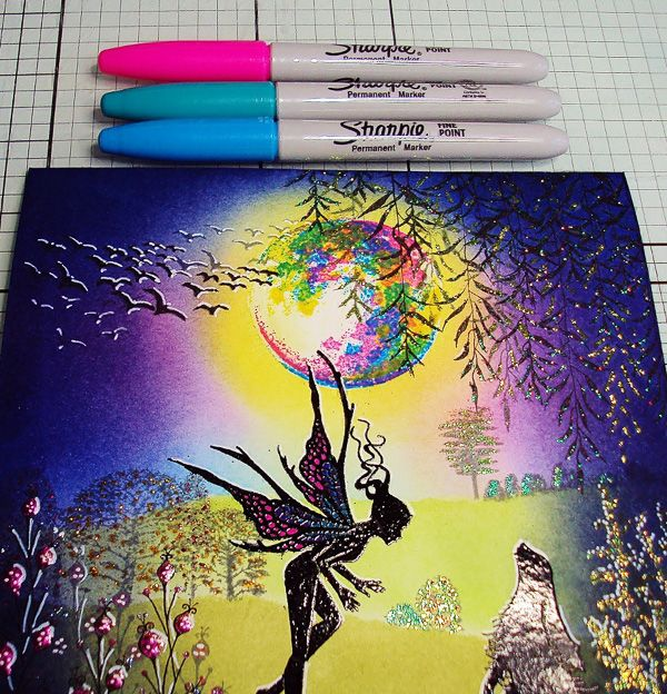 """Here we have another """"How To"""" tutorial. This time, Lavinia Stamps Design Team member Pauline Butcher has created this lovely mystical moonlit scene. It coincides nicely with the launch …"""