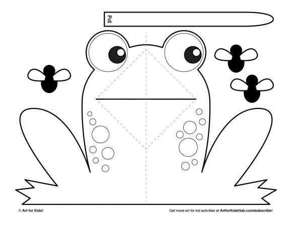 Download the frog pop-up printable