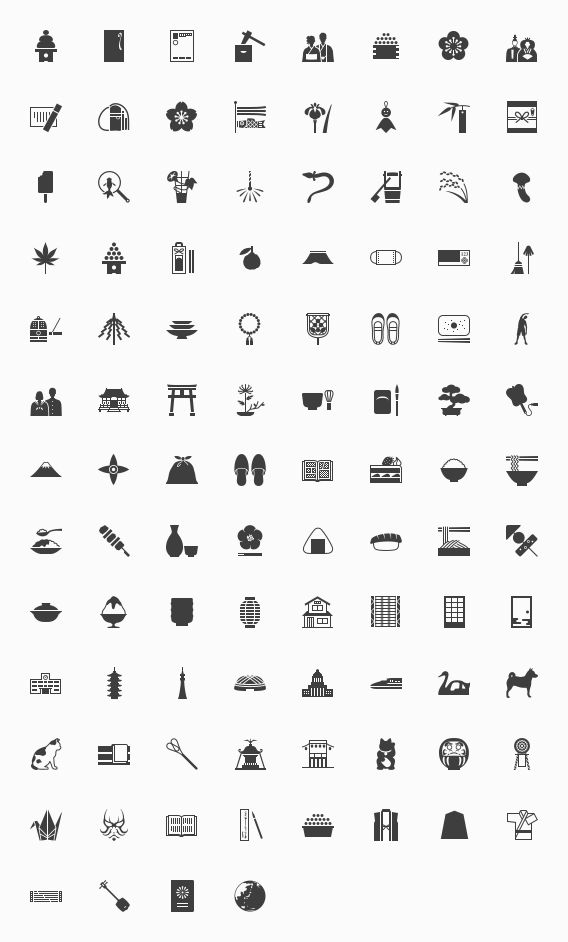 The 100 icon on the custom of Japan - finally Free Downloads