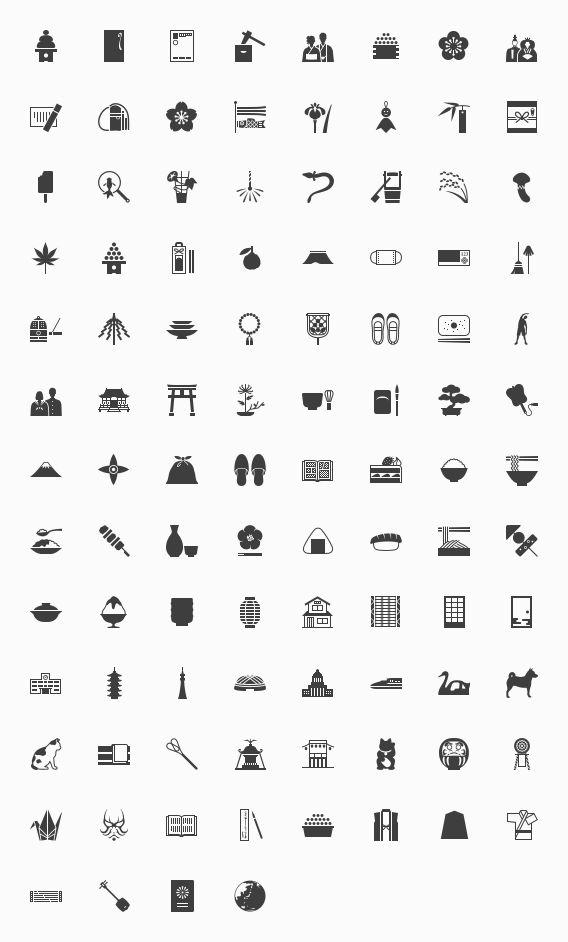 iPhone.design » 日本の風習を伝える100のアイコン − 完全版