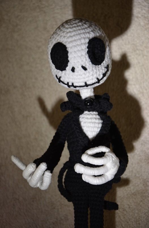 Crochet amigurumi Jack Skellington by Tim Burton