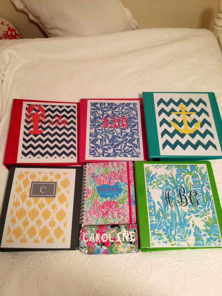 Diy lilly calculator and binder covers get crafty for Back to school notebook decoration ideas