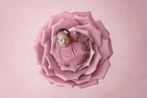 Pink Newborn Stretch Wrap & Tieback  Pink Newborn Wrap