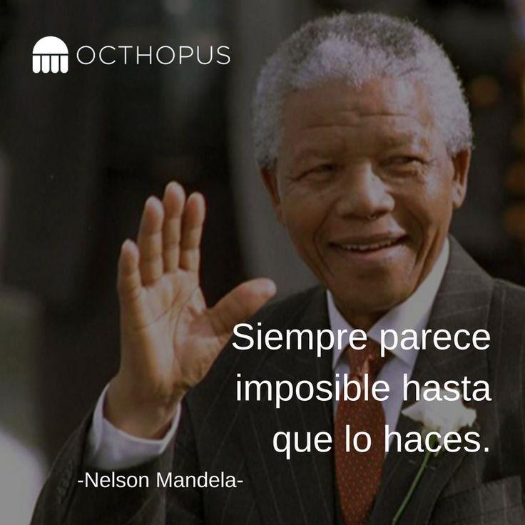 """#SabíasQue Nelson Mandela encontró su mayor motivación mientras estuvo encerrado en  Robben Island. Mandela leyó el poema Invictus, de William Ernest Henley, a sus compañeros de prisión. La poesía, acerca de nunca darse por vencido, fue siempre su inspiración. Especialmente las líneas: """"Yo soy el amo de mi destino. Yo soy el capitán de mi alma"""".   Sé el amo de tu destino, enfócate en lo que haces mejor, el resto delégalo a tu #AsistenteVirtualOcthopus"""