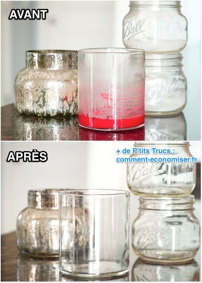 Comment enlever cire de bougie dans un verre pour le récupérer