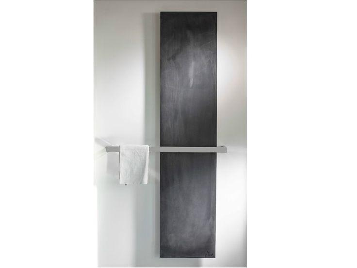 Scaldasalviette a pannello verticale in cemento CINIER GRANDE BARRE BAIN by CINIER Radiateurs Contemporains design Michel Cinier