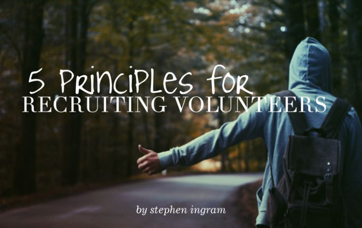 Stephen Ingram lays out 5 key things to remember when recruiting volunteers for youth ministry.