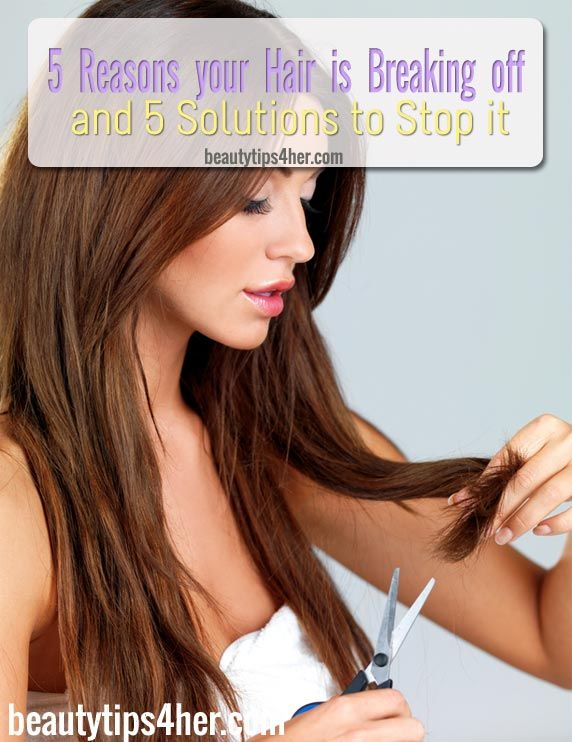 5 Reasons Your Hair is Breaking Off and 5 Solutions to Stop It | Beauty and MakeUp Tips