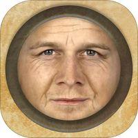 AgingBooth' . App om mensen/ kinderen op portretfotos de verouderen . AK