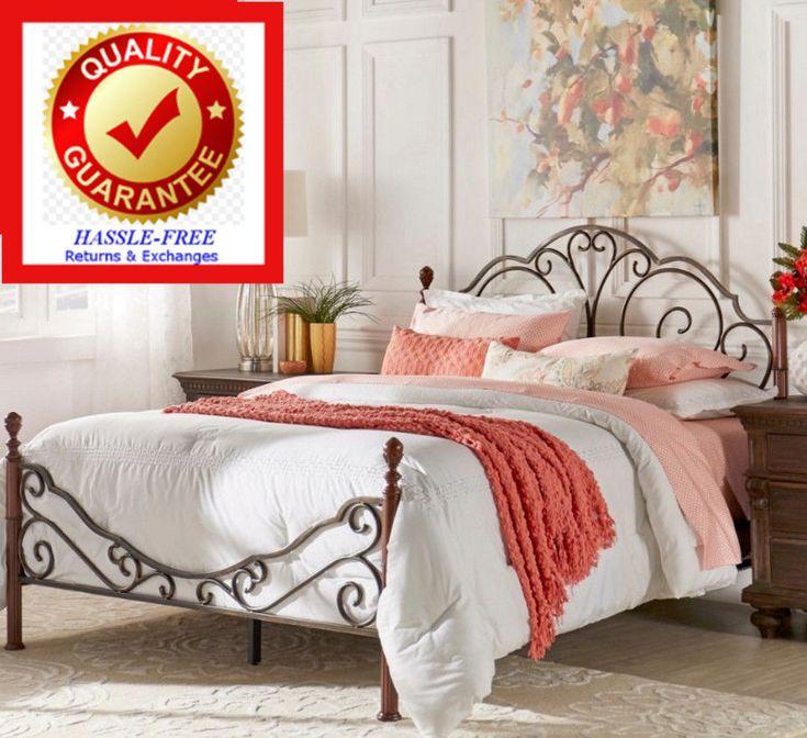 FULL Size Metal Bronze Iron Bed Frame Antique Style Bedroom Furniture - Graceful | Home & Garden, Furniture, Beds & Mattresses | eBay!