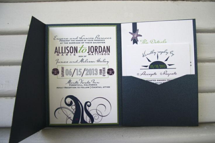 Whimsical Beach Wedding Invitations
