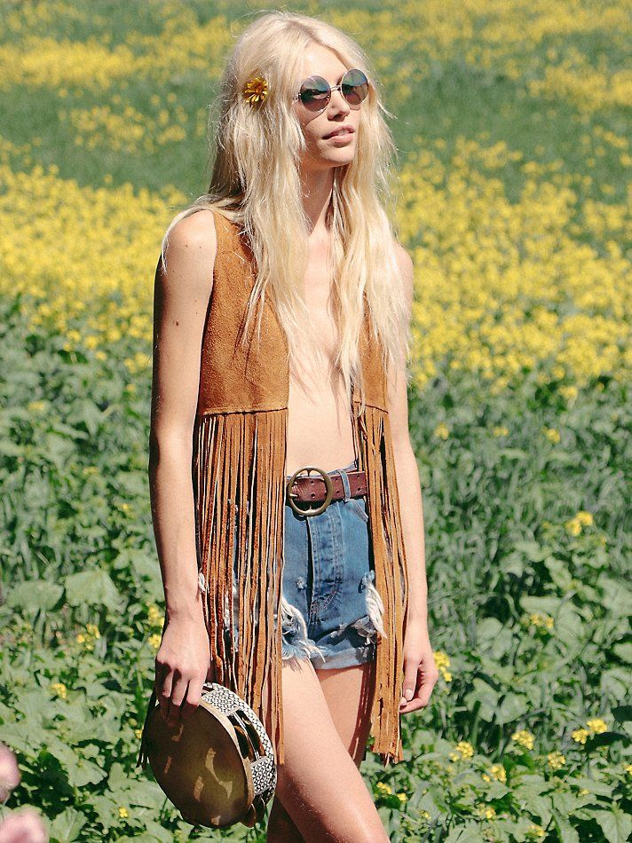 Wild West Suede Fringe Vest | American made western-inspired suede vest with dramatic fringe hem and sweeping silhouette.