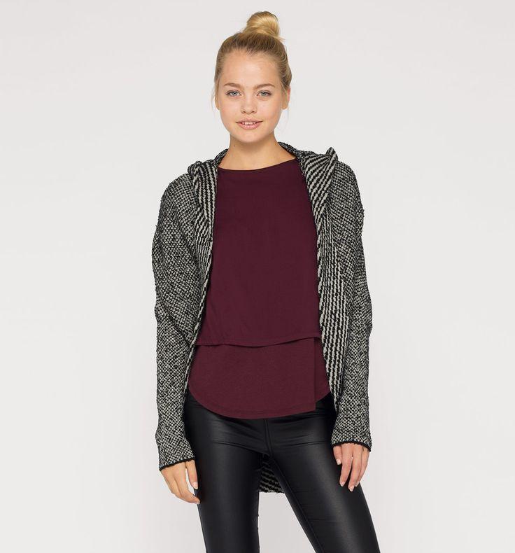 Sklep internetowy C&A | Sweter rozpinany, kolor:  czarny / szary | Dobra jakość w niskiej cenie