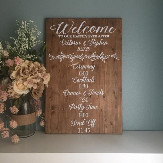 Wedding Day Events Sign Ceremony Order Of Events Sign Best Etsy Rustic Wedding Decor Wedding Order Of Events Rustic Wedding